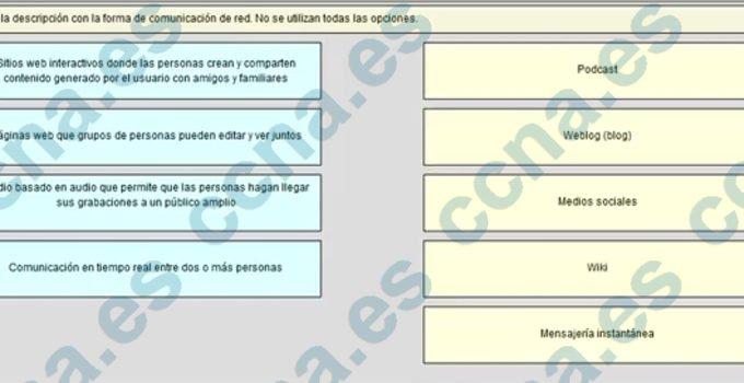 CCNA1 v5.1 Capítulo 1 Examen Español